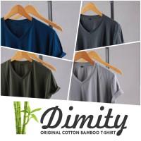 Kaos Polos V-NECK Katun Bambu ( Cotton Bamboo )