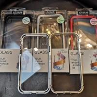 Case Magnet Anti Baret 2 in 1 Cover Metal Aluminum Casing Iphone X