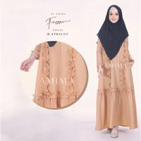 Gamis Fazzura by Amima - Gamis Cotton Medina Polos Busui Murah