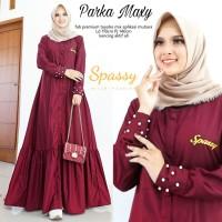 Baju Terusan Wanita Muslim Longdress Parka Maxy Spy