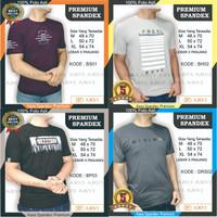 Baju Tshirt shirt Kaos Pria Spandek Spandex Kualitas Premium