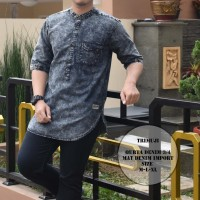 baju koko kurta denim import original premium