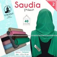 Kerudung Pashmina SAUDIA UMAMA Hijab Jilbab Polos Seri 2