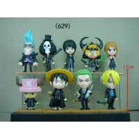 Set Action Figure Karakter Anime One Piece Chibi Warna Emas