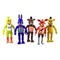 BlingS 5 Pcs Pak Mainan Figur Karakter Five Nights At Freddy s Ukuran