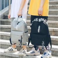 1 Paket TAS WANITA KLIPE Tas Ransel Backpack Remaja SEKOLAH ANAK - Kuning