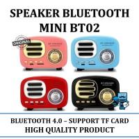 Speaker Bluetooth Mini BT02 Klasik Retro - BT-Speaker Multimedia Radio