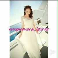 bungamawardi_summer elegant wedding beach white long style korea