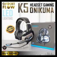 barang pilihan Headset Headphone Gaming ONIKUMA K5 LED Smartphone PC
