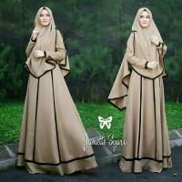 Pakaian Baju Busana Muslim Wanita JANETTA Setelan Gamis Syari Terbaru