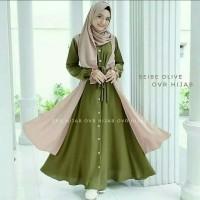 Baju Busana Muslim Wanita Maxi Dress BEIBE Setelan Gamis Syari Terbaru