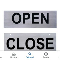 signage gantung OPEN CLOSE