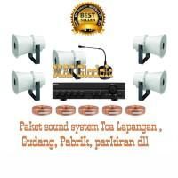 Paket sound system Toa untuk Lapangan,Gudang,Pabrik,Parkiran dll