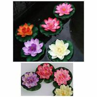 Lotus bunga teratai bahan eva palsu tanaman air mengapung kolam 10 cm