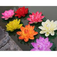 Lotus bunga teratai bahan eva palsu tanaman air mengapung kolam 18cm