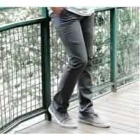 Celana Chino CheapMonday pria warna abu-abu gelap size 27 - 32