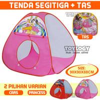 Mainan Tenda Anak Segitiga Camping Mandi Bola Perempuan Laki-laki Tent