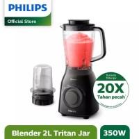 PHILIPS HR2157 Blender 2 Liter 350 Watt Duravita Tritan Jar - HR-2157 - TANPA BUBBLE