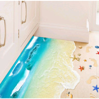 Stiker Lantai / Floor Sticker (3D): Pantai Pasir Putih