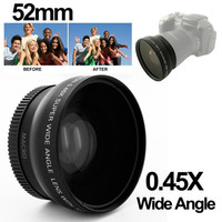 Wide Angle Lens with Macro 0.45X 52mm for Nikon D40-D60-D70s-D3000 -