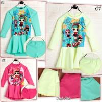 Baju Renang Swimsuit Anak TK Karakter LOL Muslimah