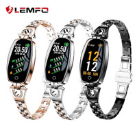smartwatch LEMFO H8 bluetooth android IOS wanita strap stainless S3 - Hitam