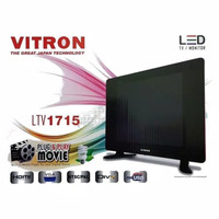 LED TV VITRON 17 INCH SUPPORT USB MOVIES VGA DAN HDMI