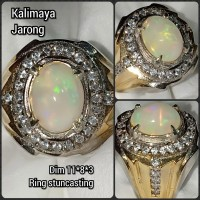 cincin Natural batu akik permata kalimaya jerong 1