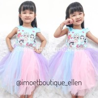 Dress Pesta anak LOL surprise blink tutu (GI0515)