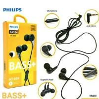 Headset Handfree Hf Earphone Philips Magnet At-036 Bass Original