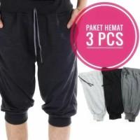 Promo Dapat 3Pcs Celana Pendek Jogger 7/8 Ukuran Jumbo - Size XL
