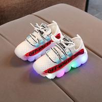 Sepatu Anak Led OFF White Kualitas Import Lentur Nyaman Warna Putih