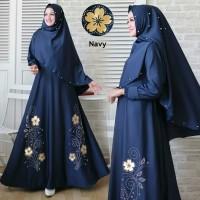 Busana Muslim Wanita Maxi Dress JANELA Setelan Gamis Syari Terbaru