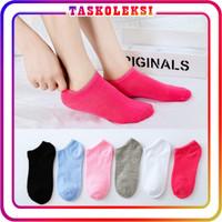 TK R100 Kaos Kaki Motif Polos Korea Ankle Cute Semata Short Socks
