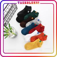 TK R103 Kaos Kaki 6 Garis Polos Kaus Semata Ankle Socks Import Murah