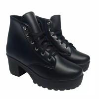 Sepatu Ankle Boots Wanita Kulit Sintetis
