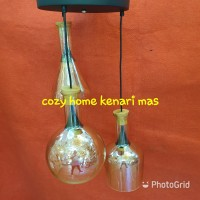 Lampu gantung unik vintage botol minimalis modern industrial cafe