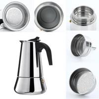 Coffee Maker Moka Pot Stainless Espresso 300ml 6 cup Teko Kopi Moka