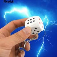 Elektric shock Dadu Keychain Prank/Gantungan kunci setrum bentuk Dadu