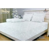 Bedcover Set T30 Single Vallery White 120x200 cm tinggi 30 cm