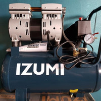 IZUMI 0.75 HP 24 liter Oilless Compressor - Kompresor listrik SILENT