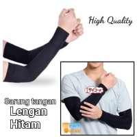 sarung tangan lengan panjang hitam kualitas premium tebal ankle