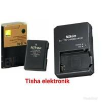 Paket baterai dan charger kamera Nikon D3200
