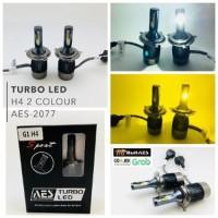 A Lampu LED H4 turbo AES I lampu led turbo h4 2 warna PUTIH KUNING I