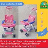 CHAIR STROLLER KURSI MAKAN DORONGAN BAYI FAMILY FC 8288