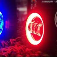 Lampu led fog lamp foglamp bulat mobil ring angel eyes