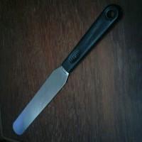 pisau spatula gagang plastik