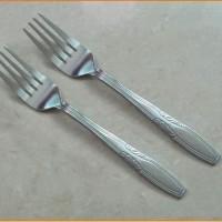 garpu makan polos stainless per pcs