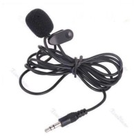 3.5mm 3.5 mm Microphone Youtuber With Clip ON Mic 2 garis Vlogger Vlog