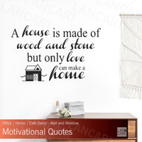 Sticker Cutting Quotes Home Stiker dinding kaca Wall Window
